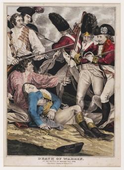 Death of Warren,  1786  broadside