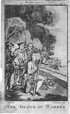 Death od Joseph Warren at Bunker Hill by J. Norman 1776