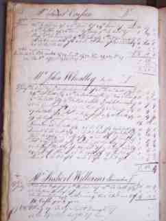 Page from Dr. Joseph Warren's Account Books courtesy of the Massachusetts Historical Society