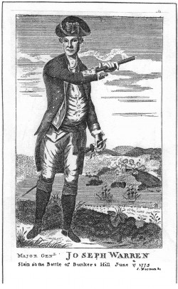 Joseph Warren, 1780s woodcut by J. Norman