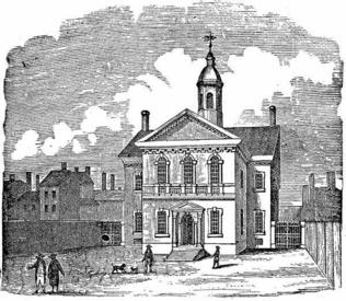 The First Continental Congress met in Philadelphia's Carpenters Hall in September 1774