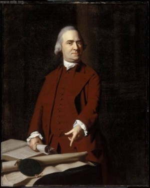 Samuel Adams (1722-1803) by J.S. Copley courtesy Boston MFA