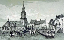 Place d'Arme Montreal 1775