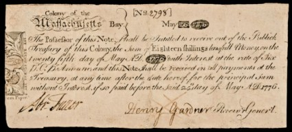 Massachusett Provincial Currency - May 1775