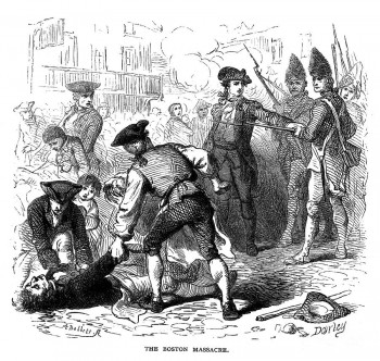 Boston Massacre 19c engraving