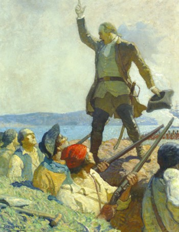 Warren' Address at Bunker Hill by N.C. Wyeth 1922