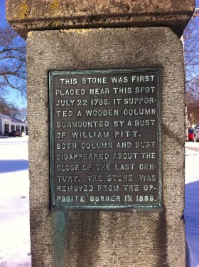 Stamp Tax Monument in Dedham, Massachusetts